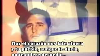 Acto de masas en Santiago de Cuba en homenaje a Fidel
