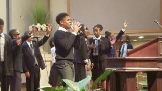 "Caleb Alexander Carroll 14 yrs old singing ""All I Have to Give"" by Mali Music"