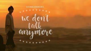 (TEASER) Jungkook (BTS 방탄소년단 - 전정국) - We Don't Talk Anymore LYRICS (Charlie Puth Cover)