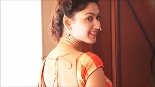 Manjari Phadnis gorgeous in Maharashtrian Style Saree & Backless Blouse.(No Audio) width=