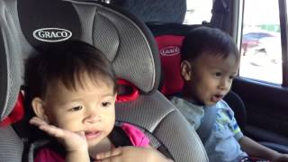 """Cute 4-year-old boy sings Frozen's """"Let It Go"""" with baby sister singing backup"""