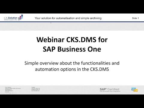 Základní funkcionalita CKS.DMS