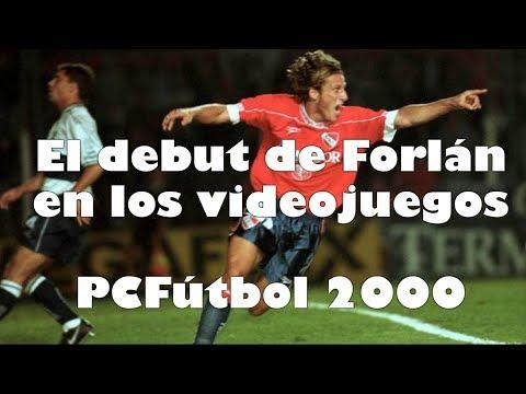 El debut de Forlán en los videojuegos - PC Fútbol 2000
