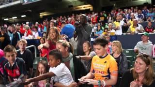 England's Dan Norton obliges young fan