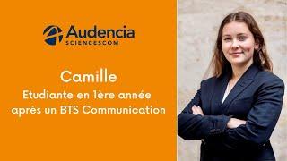 Camille, en 1ère année après un BTS Communication