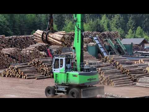 SENNEBOGEN 735 E Mobil - Holzumschlag bei der Ziegler Group, Deutschland