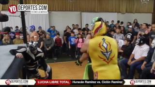 Huracan Ramirez Jr y Ciclon Ramirez Jr arrasan con Chicago Lucha LIbre Total