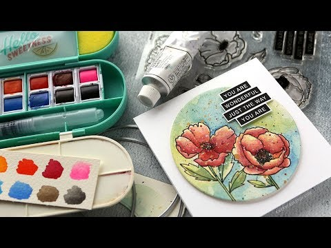 NEW Amy Tangerine Watercolor Set + Mama Elephant stamps