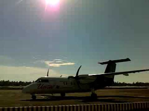 United Air Dash8 arrives at Cox's Bazar -Bangladesh