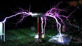Bobina de Tesla Armageddon Tesla Coil Upgrade! (Video)