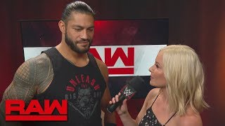 "Roman Reigns on why Bobby Lashley's skills are useless in his ""yard"": Raw, July 9, 2018"