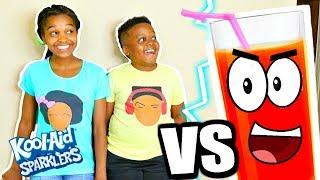 Shasha and Shiloh Taste NEW KOOL-AID SPARKLERS! (Music Video)