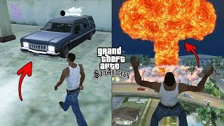 Nuclear Bomb in GTA San Andreas! (Nuke Explosion in Grove Street)
