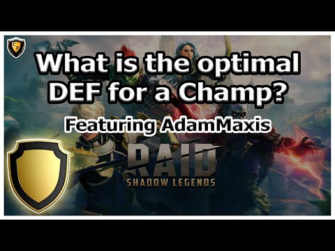 RAID Shadow Legends | Discussion | What is the optimal DEF to have on a Champion?