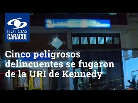 Cinco peligrosos delincuentes se fugaron de la URI de Kennedy en Bogotá