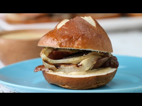 Beer Brat Sliders// Presented by BuzzFeed and Sausage Party