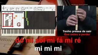Estou além Antonio Variações Karaoke Notas para flauta piano Acordes para Guitarra Educacao Musical