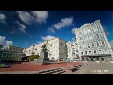 Kiev Timelapse Ukraine, Киев таймлэпс Украина, красоты Киева