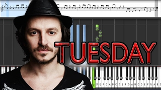 Burak Yeter - Tuesday ft. Danelle Sandoval (Piano tutorial)