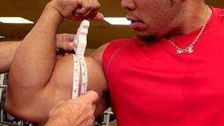 Bodybuilder Jonathan Irizarry - 20-plus inch biceps - arms