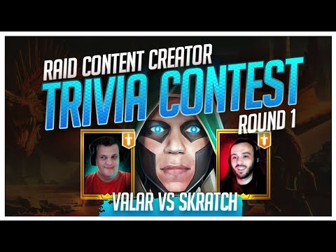 RAID | Trivia Contest | R1 | Skratch vs Valar!