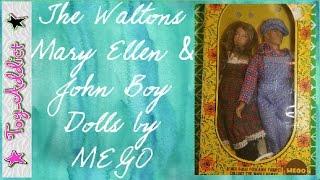 MEGO 1974 Waltons Dolls ~ John Boy and Mary Ellen~ Toy-Addict