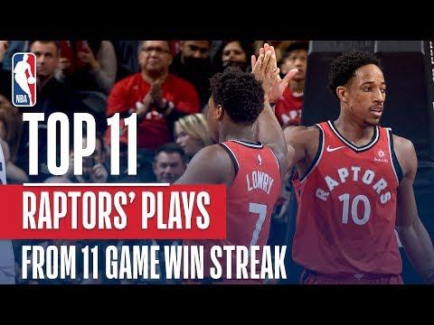 STREAKING! The Raptors Top 11 Plays From Their 11 Game Win Streak
