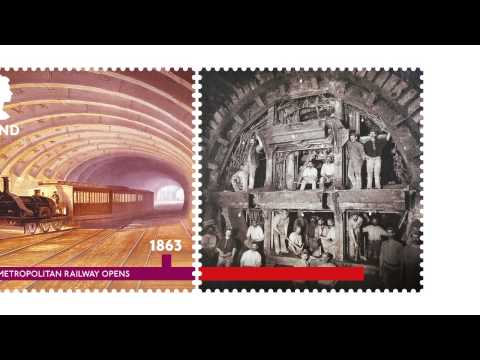 royal mail 150 years of the London Underground