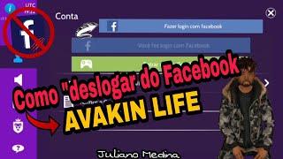 Como deslogar o Facebook do Avakin Life