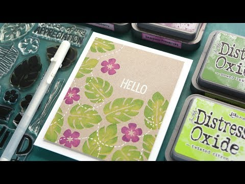 2 Ink Colors on the Same Stamp - Make a Card Monday #281