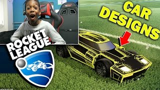 DESIGNING ROCKET LEAGUE CARS!! RUMBLE ONLINE WITH FRIENDS!!