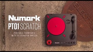 Numark PT01 Scratch Portable Turntable with USB & DJ Scratch Switch