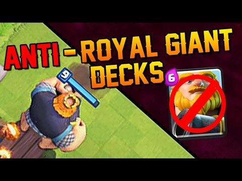 Anti-Royal Giant Decks! Clash Royale - Best Decks