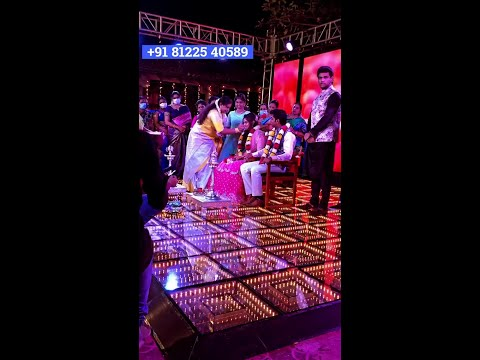 LED Glass Floor Wedding Stage Decoration 81225 40589 Chennai | Bangalore | Andhra | Pondicherry | Vellore | Trichy | Tamil Nadu