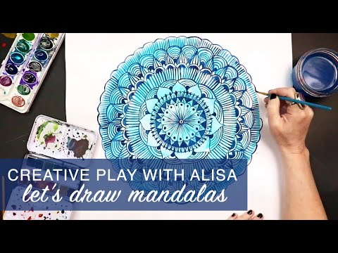 creative play- let's draw mandalas