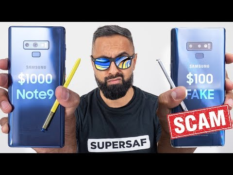FAKE $100 Galaxy Note 9 vs REAL Galaxy Note 9