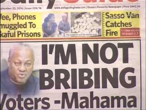 Badwam Newspaper Headlines on Adom TV (23-9-16)