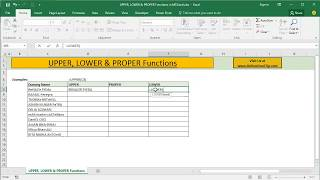 How to Change Text Cases in Excel