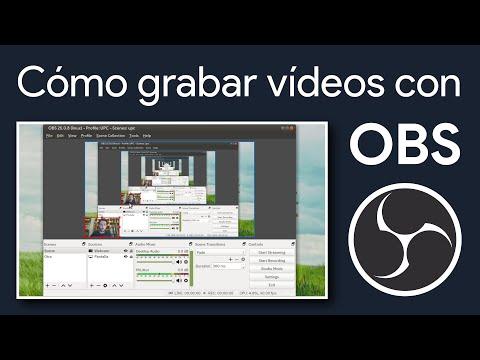 Cómo grabar vídeos con OBS