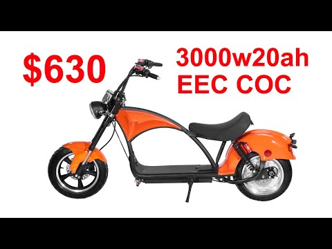 moto eletrica citycoco electric chopper trooper Rooder with 3000w20ah EEC COC $630/pc only for 40HQ