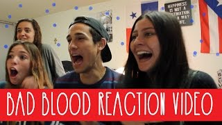 REACTING TO BAD BLOOD MUSIC VIDEO II Sebb Argo