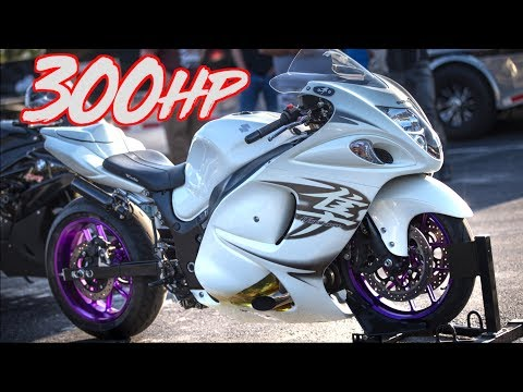 300HP Suzuki Hayabusa Battle - Turbo vs Nitrous!
