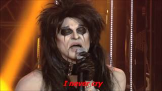 I'll Never Cry : Jay R as Alice Cooper w/ Lyrics