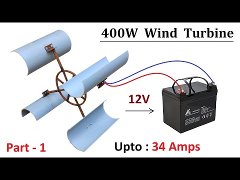 Make 12V , 24V 400W Alternator Powered Windy Torbine Generator ( Part - 1 )