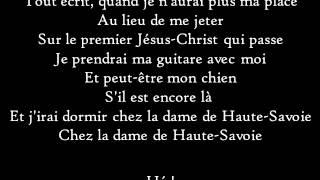 Francis Cabrel - La Dame de Haute-Savoie - Paroles