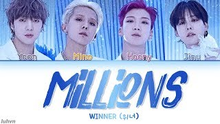 WINNER (위너) - 'MILLIONS' LYRICS [HAN|ROM|ENG COLOR CODED] 가사