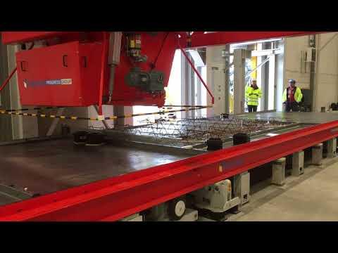 Första skalväggen tillverkas i Thomas Betongs nya fabrik i Heby