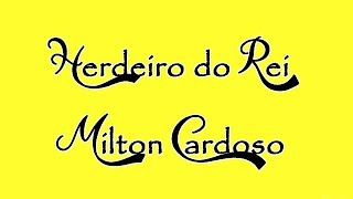 Herdeiro do Rei (Bateria) - Milton Cardoso (Cover)