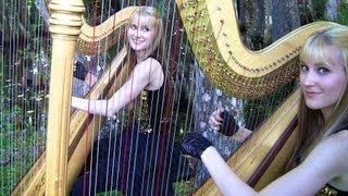 SMOKE ON THE WATER (Deep Purple) Harp Twins - Camille and Kennerly HARP ROCK/METAL