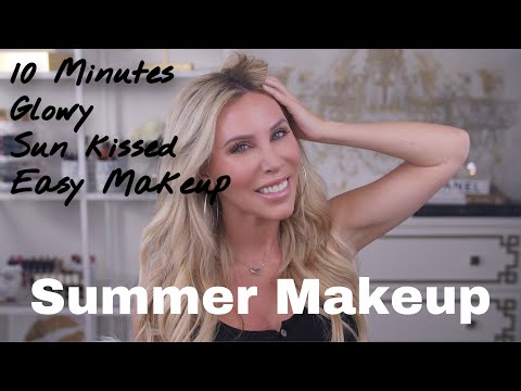My Go-To Minimal Makeup, 10 Minute, Summer Glowy Makeup Look
